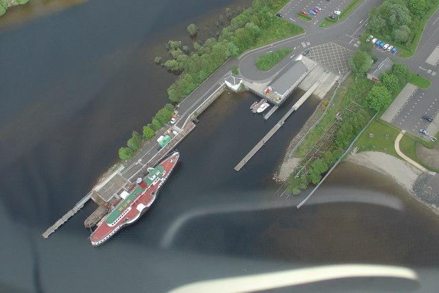 PS Maid of the Loch from the air