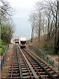 SX9265 : Funicular railway down to Oddicombe beach by Philip Jeffrey