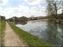 SO9394 : Canal Siding by Gordon Griffiths