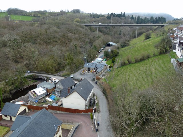The view (NW) from Cefn Coed Viaduct, Merthyr Tydfil