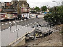 TQ3478 : Bermondsey Connect2 bridge - steps by Stephen Craven