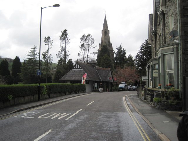 Compston Road and St Mary's Church, Ambleside