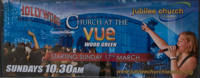 Church in a cinema, Wood Green