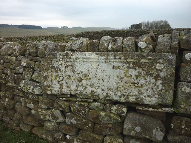 Carved stone panel, Aesica Roman fort