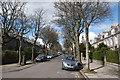 NJ9305 : Looking up Ferryhill Place, Aberdeen by Bill Harrison