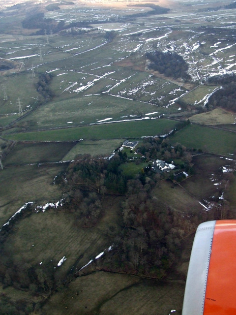 Hallhill from the air