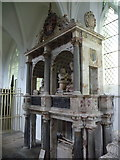 SK4023 : Breedon-on-the-Hill: Sir George Shirley memorial by Chris Downer