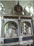 SK4023 : Breedon-on-the-Hill: upper level of the Sir George Shirley memorial by Chris Downer