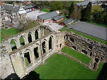 SK3616 : Ashby-de-la-Zouch: the castle chapel from above by Chris Downer