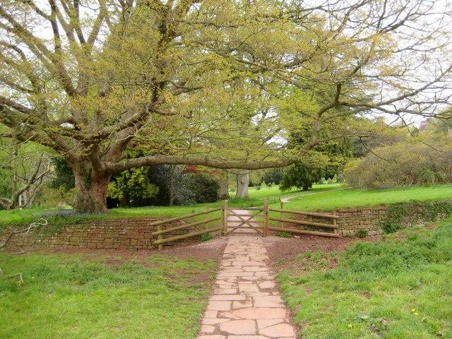 Garden gate and boundary - Tyntesfield