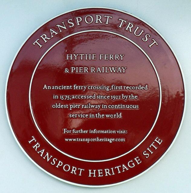 Transport Trust plaque, Hythe Pier