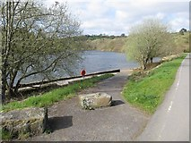 SN6503 : Slipway on lower Lliw Reservoir by Nigel Davies