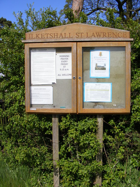 St.Lawrence Church Notice Board