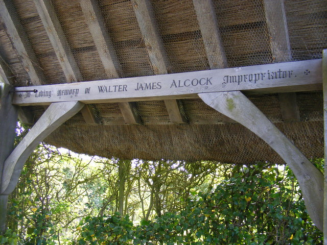 Inscription on the Lych Gate of St.Lawrence Church