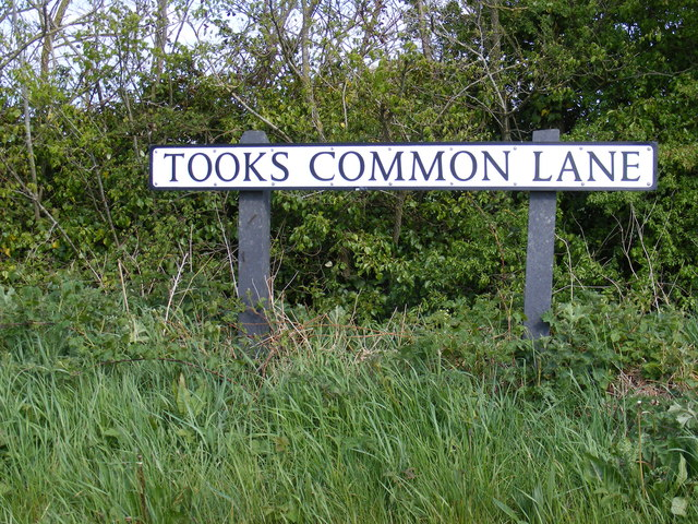 Tooks Common Lane sign