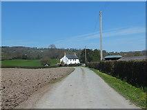 SJ2734 : Farm track to Wern Farm by John Haynes