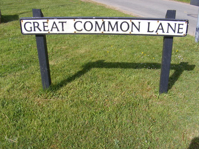 Great Common Lane sign