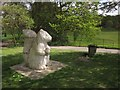 TQ3870 : Squirrel sculpture, Beckenham Place Park by Derek Harper