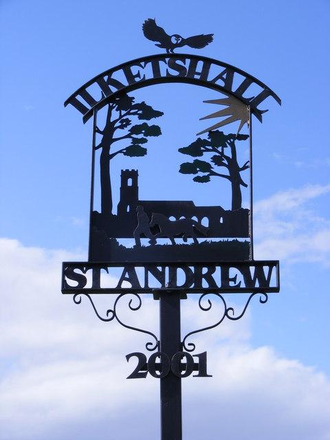 Ilketshall St.Andrew Village sign