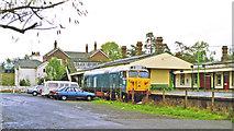 TQ5434 : Eridge station, with dumped Diesel 1992 by Ben Brooksbank