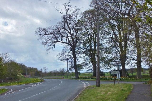 Road junction, Foulden