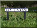 TM3887 : Clarkes Lane sign by Adrian Cable