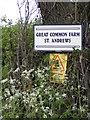 TM3786 : Great Common Farm sign by Adrian Cable