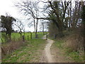 ST7167 : The Cotswold Way near Kelston Round Hill by Ian S