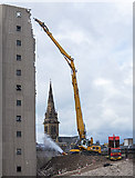 NO4030 : Demolition of Tayside House, Dundee by William Starkey