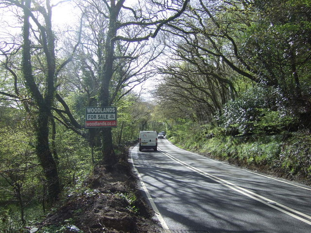 A386 heading towards Tavistock