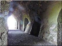 NU1341 : Interior of disused lime kiln at Lindisfarne Castle by Derek Voller
