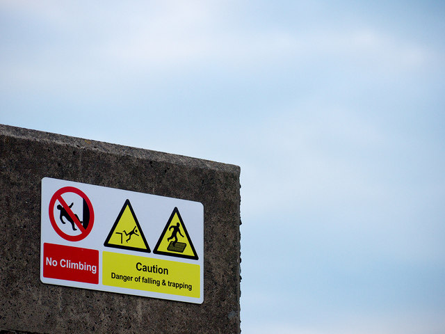 Warning sign, Bangor