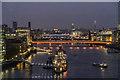 TQ3380 : London by Night from Tower Bridge, London by Christine Matthews