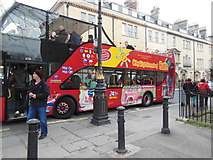 ST7465 : A sightseeing bus near the Royal Crescent, Bath by Ian S