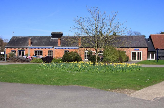 The cafe and shop at Exbury Gardens by Steve Daniels