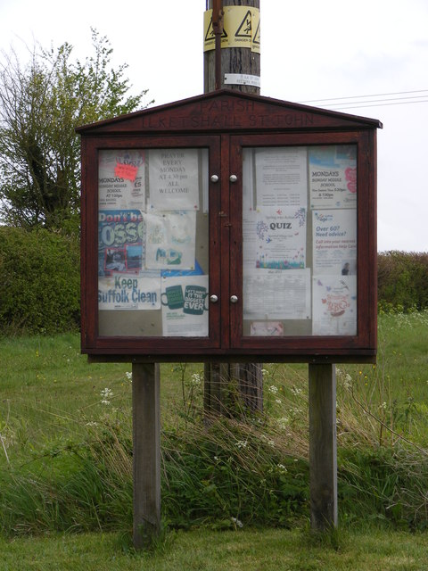 Ilketshall St.John Village Notice Board
