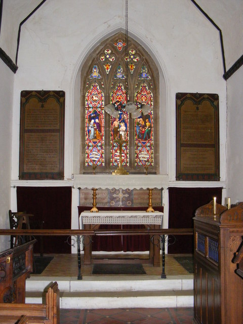 Altar & Stained Glass Window of St.John's Church