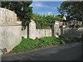 SX9473 : Gate pillars and blocked entrance, Dawlish Road, Teignmouth by Robin Stott