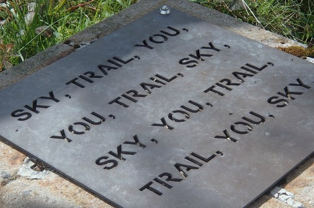 Plaque by the Tissington Trail - Sky, Trail, You