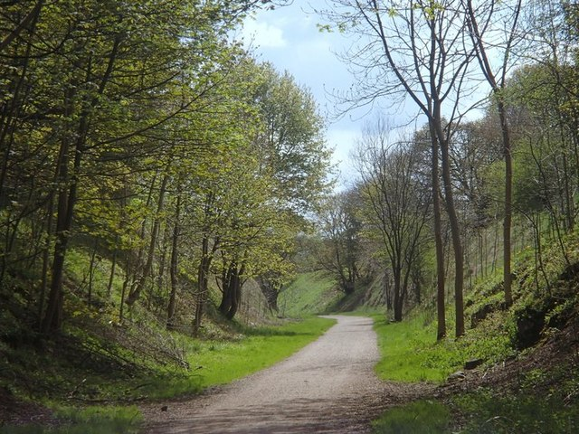 Former railway cutting along the Tissington Trail