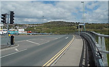 ST1599 : Across Bargoed Newydd Viaduct by Jaggery