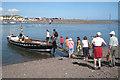 SX9372 : Boarding the Teign Ferry, Shaldon beach by Robin Stott