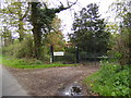 TM3588 : Entrance Gates to The Lodge Mettingham Castle by Adrian Cable
