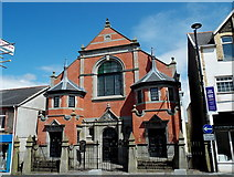 ST1599 : Combined public library and Baptist chapel, Bargoed by Jaggery