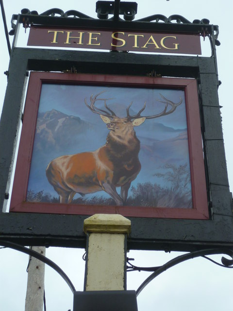 "Sign at ""The Stag"" PH"