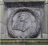 NJ9406 : Mercat Cross Panel: Charles II by Bill Harrison