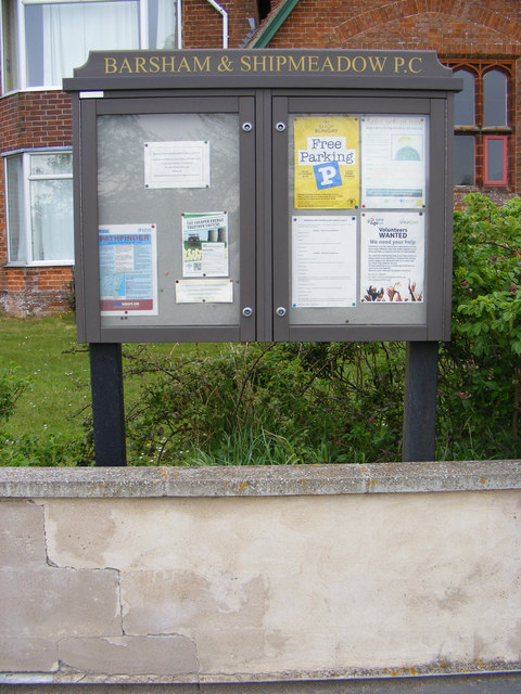 Barsham & Shipmeadow Village Notice Board