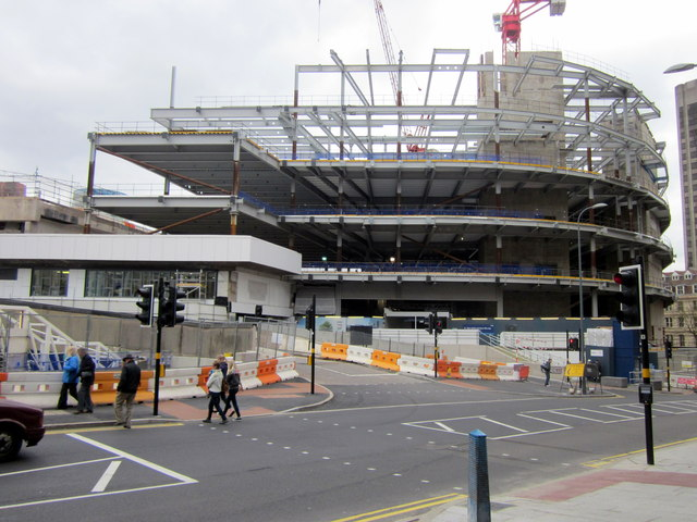 New Street Station Construction From Hill Street