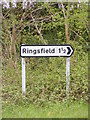 TM3989 : Ringsfield sign by Adrian Cable