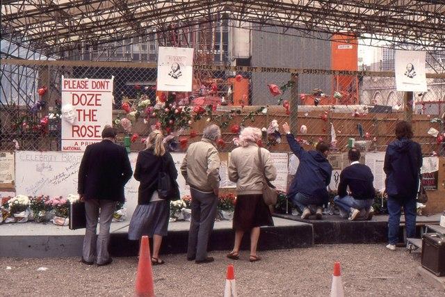 Rose Theatre site, Bankside, 1989